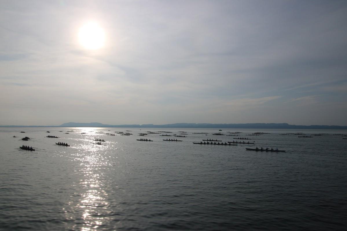 Lac calme et soleil pour le 18e Bilac
